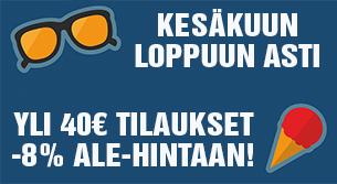 Kesäkuun ajan yli 40€ tilaukset -8% ALE-hintaan. Tilaa heti ja nauti. Kokeile valmistaa myös jääteetä!