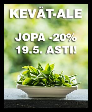 Chayan Kevät-Ale: Tarjoamme nyt valikoiman tuotteita -20% tarjoushintaan ja ilmaisen toimituksen yli 40€ tilauksille. Katso tarjoukset ja tilaa heti