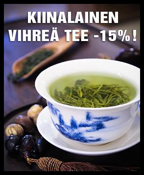 Kaikki kiinalainen maustamaton vihreä tee nyt -15% ALE-HINTAAN. Tutustu valikoimaan ja tilaa laadukasta vihreää teetä!