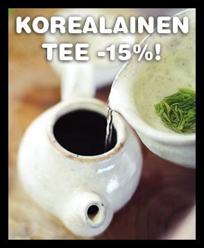 Tarjoamme nyt kaikki valikoiman korealaiset teet -15% ALE-hintaan. Tutustu valikoimaan ja tilaa!
