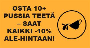 Osta vähintään 10 pussia teetä, niin saat kaikki tilaamasi teet -10% ALE-HINTAAN! Tutustu valikoimaan ja tilaa! [kuvan lähde: Tea by Ker'is from the Noun Project]