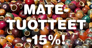 Tarjoamme nyt kaikki yerba mate -tuotteet -15% ALE-HINTAAN! Tilaa herkulliset mate-haudukkeet sekä perinteiset mate-välineet nyt huippuhintaan!