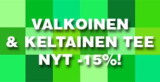 Valkoinen ja keltainen tee nyt -15% ALE-hintaan. Tutustu valikoimaan ja maista!