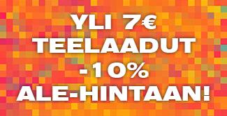 Saat nyt kaikki yil 7€ teet -10% hintaan. Alennus lasketaan automaattisesti kun lisäät tuotteet ostoskoriin. Tilaa heti!