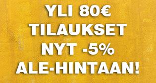Kun tilaat yli 80€ arvosta tuotteita, saat koko tilauksen automaattisesti -5% ALE-HINTAAN. Tilaa nyt teetä talvi-iltojen lämmikkeeksi!